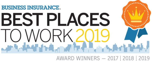 Best Insurance, Best Place to work 2018 award image